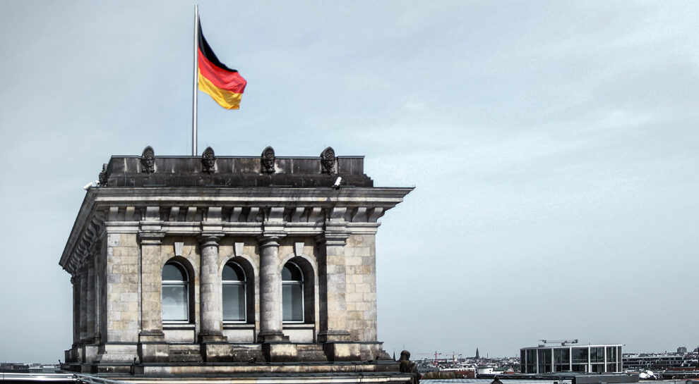 german flag symbolizing a german fintech company