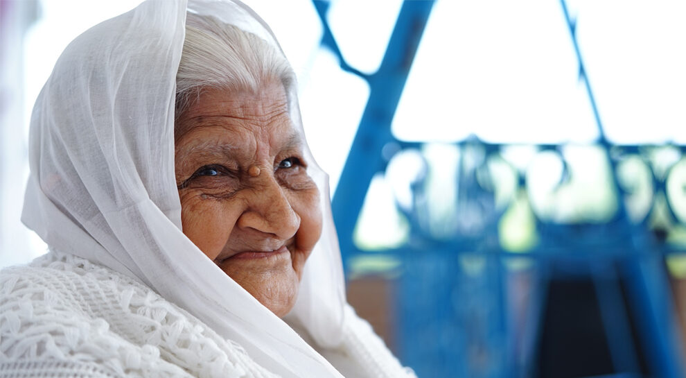 Elderly women symbolizing searching of the key drivers of prosperity