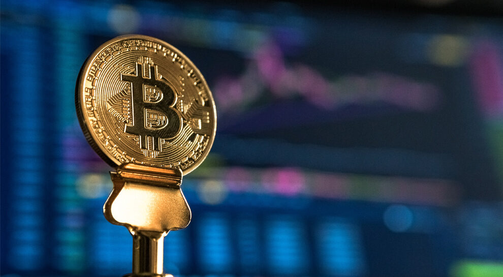 bitcoin symbolizing new digital currency