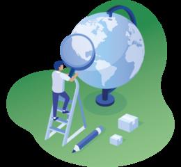 Illustration_looking-at-a-globe