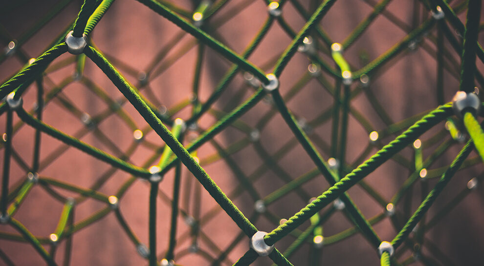 green ropes symbolizing financial inclusion through blockchain