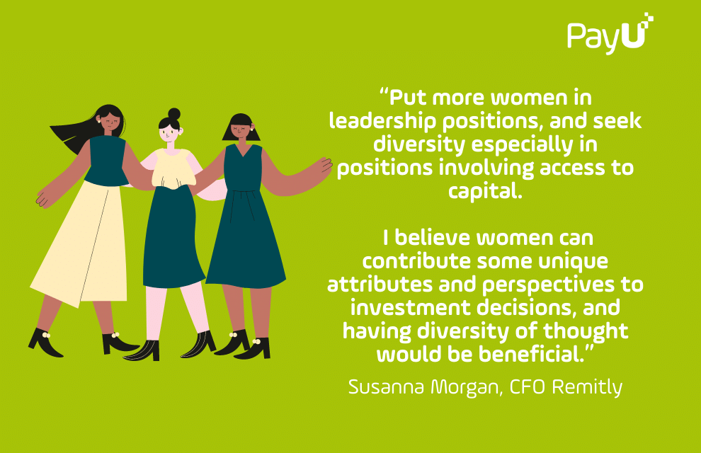 Quote on Women in Leadership by Susanna Morgan, CFO Remitly